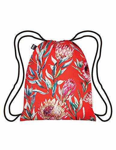 Loqi Wild Azúcar Bush–Mochila, color rojo