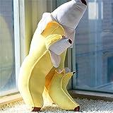 giant plush stuffed fruit toy-Scalping banana,20'' long,pink,yellow