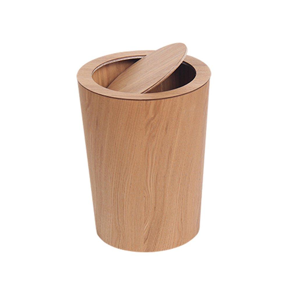 LVAB Mülleimer- Mülleimer Presse Wohnzimmer, Schlafzimmer, Studie In-Band Tube Klebriges Holz (Farbe : B)