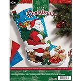 Bucilla 86656 - Kit de apliques de fieltro navideño de 45,7 cm