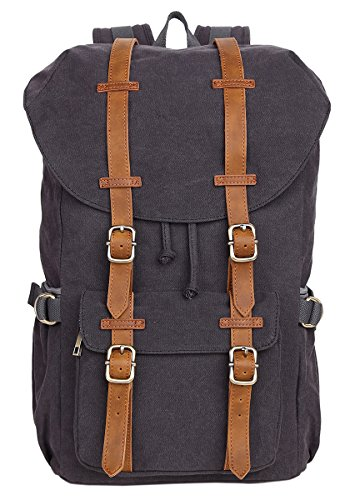 Veenajo Laptop Outdoor Backpack, Travel Hiking& Camping Rucksack Pack, Casual Large College School Daypack, Shoulder Book Bags Back Fits 15