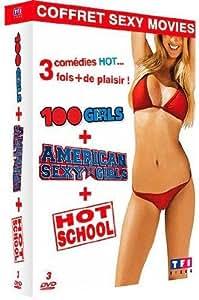 Coffret Sexy Movie : American Sexy Girls + 100 Girls + Hot School [Francia] [DVD]