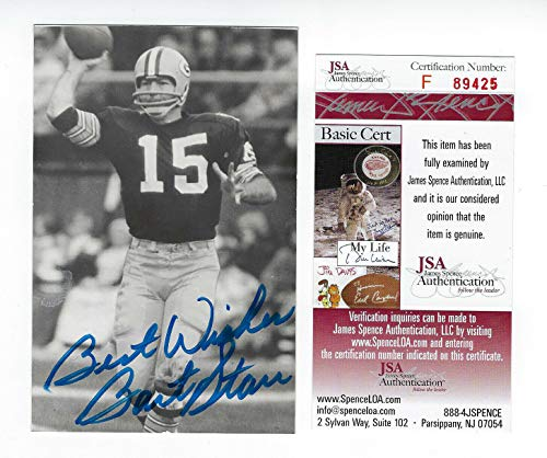 Packers Bart Starr Autographed Signed Postcard Photo Memorabilia JSA Auto Autographed Signed Vintage Kodak from Sports Collectibles Online