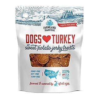 Farmland Traditions Filler Free Dogs Love Turkey & Sweet Potato Premium Jerky Treats for Dogs, 3 lbs. Bag