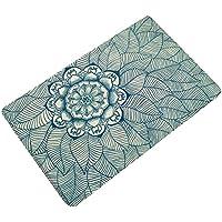 JINBEST 1PCS Non-slip Floor Mat Carpet Polyester Bath Mats Area Rugs Door Mat For Kitchen Bedroom Bathroom (Bohemian Mandala Flower Style) (Large:19.7x 31.5, #6)