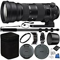 Sigma 150-600mm f/5-6.3 DG OS HSM Sports Lens and TC-1401 1.4x Teleconverter Kit for Nikon F Bundle with Manufacturer Accessories & Accessory Kit (19 Items)