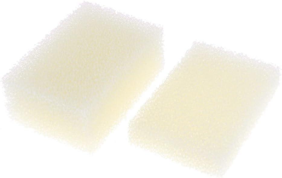 Rectángulo esponja suave forma de plato pote de limpieza Scrub Pad 3 PC Beige