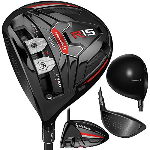 TaylorMade R15 Black Driver 460 Mens Left Handed Regular Flex 9.5° ()
