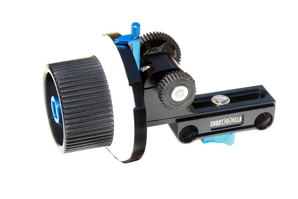 Follow Focus Universal Gear Ring Speed Crank Mounts on 15 mm Rod Support