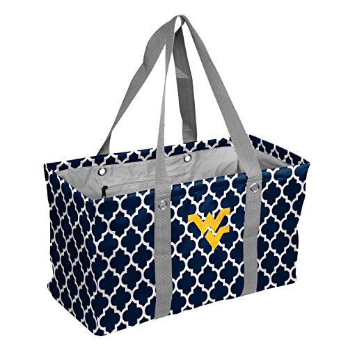 Logo Brands Collegiate Large Collapsible Picnic Tote West Virginia Mountaineers, Navy, One Size West Virginia Tote