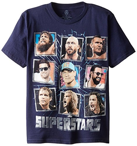 WWE Big Boys' Superstars T-Shirt  Shirt, Navy,
