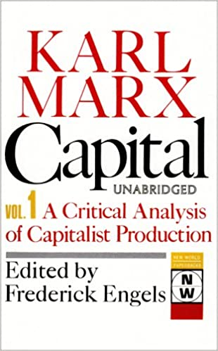 Capital A Critical Analysis Of Capitalist Production The Process