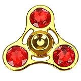 Explosion-proof Alloy Gyro Diamond Three Finger Helical Hand Spinner Gemstone Gyro