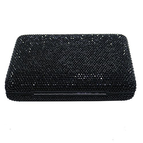 Clutches Crystal Shape DMIX Black Evening Square Bags Womens and ZIxpv7pwq