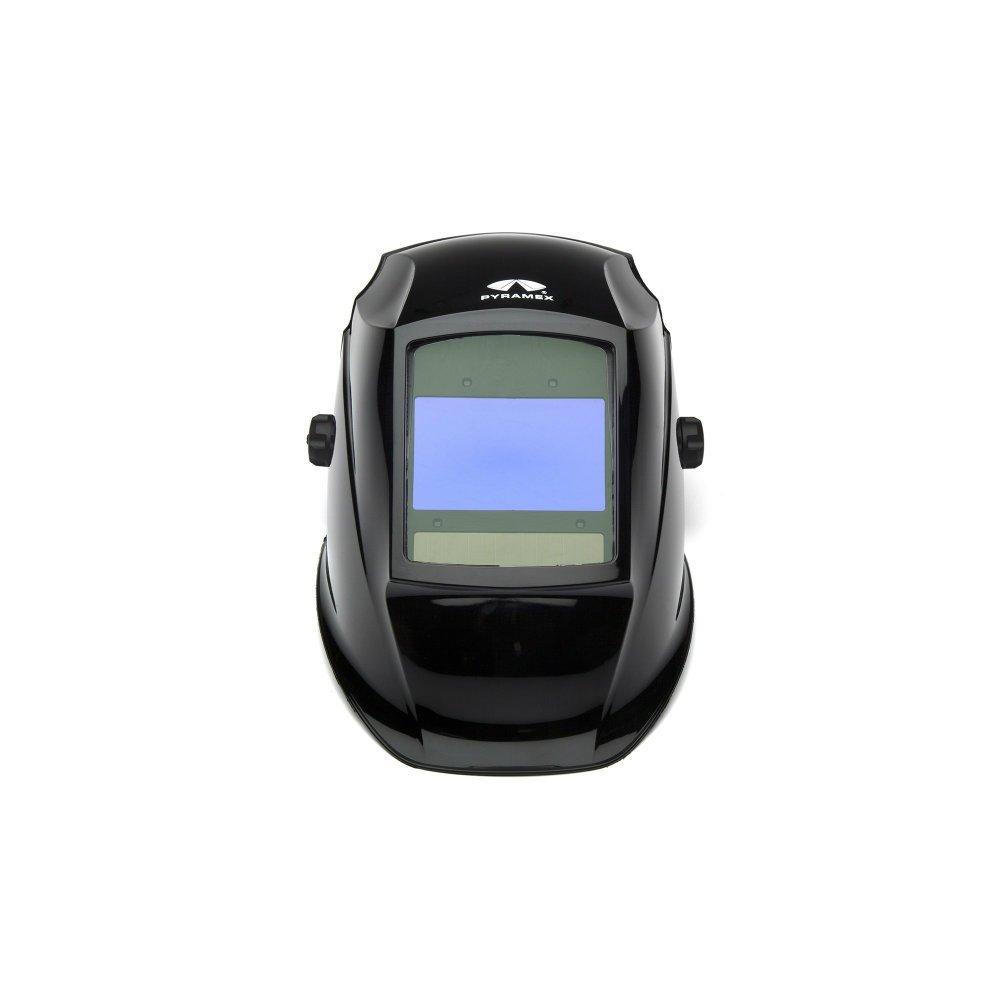 Pyramex WHAD6030GB Glossy Black Auto Darkening Welding Helmet, Digital 100 x 60mm