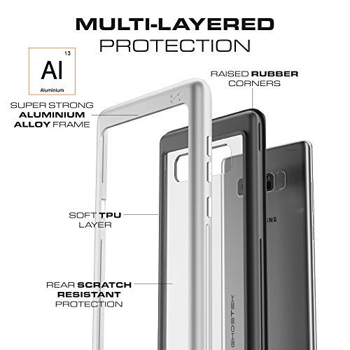 Galaxy Note 8 Case, Ghostek Atomic Slim Tough Strong Reinforced Military Cover