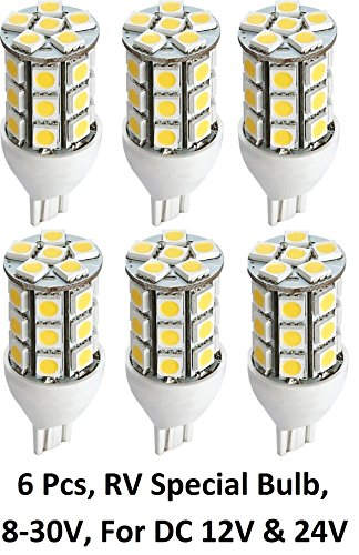 Gold Stars 92111803 LED Replacement Light Bulb 921/T15 Wedge base 190 Lumens 12v or 24v Natural White (6)