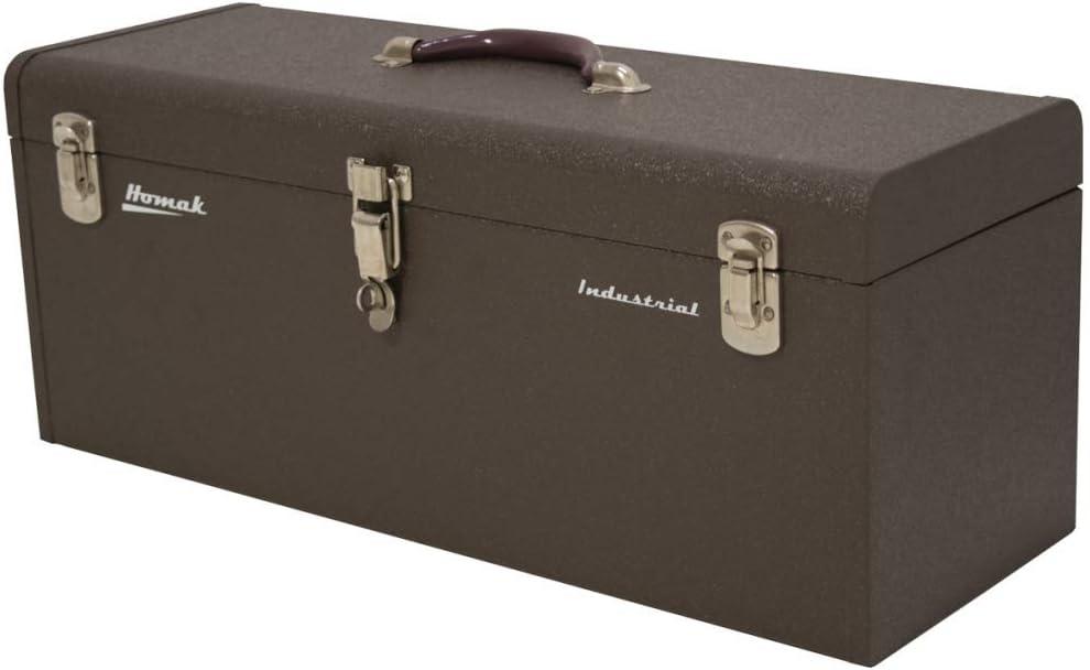 Homak 32-Inch Industrial Steel Toolbox, Brown Wrinkle Powder Coat, BW00200320