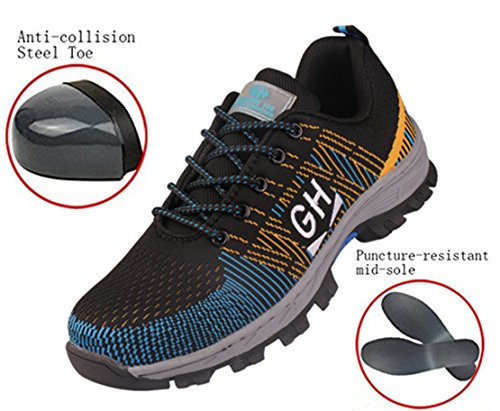 Canvas Steel Toe Sneaker Shoe (GUDUN Breathable Unisex Steel toe Boots Men's Comp Steel Toe Boots Steel toe Safety work Shoes Hiking Boot Logging lumber steel toe shoes(Check feet length to choose size) (43, GD24))