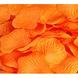 Wedding Decoration Silk Rose Petals Pack of 2000 Orange