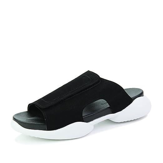 LJO Männer Bequeme Sommer Sport Freizeit Rutschfeste Strand Schuhe Mode Hausschuhe Sandalen,B,UK/EU43
