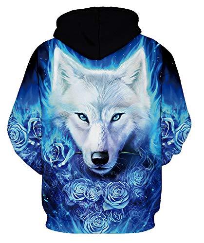 BBAYMAX Unisex 3D Hoodie Design Pattern Drawstring Sweatshirt with Pockets for Men Women