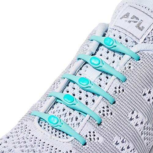 HICKIES 2.0 Unisex One-Size Fits All No Tie Elastic Shoelaces - Mint (14 HICKIES Laces, Works in all ()