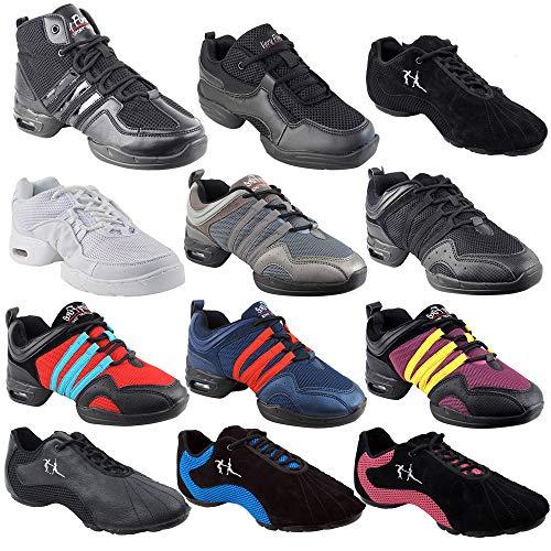 Unisex Zumba Shoes Dance Sneaker for Women & Men : VFSN011 Grey Size 7.5