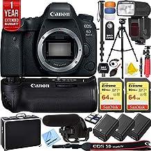 Canon EOS 6D Mark II 26.2MP Full-Frame Digital SLR Camera (Body Only) Pro Memory Triple Battery & Grip SLR Video Recording Bundle - Newly Released 2018 Beach Camera