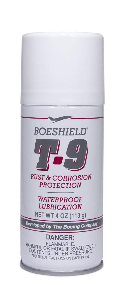 BOESHIELD T-9 Rust & Corrosion Protection/Inhibitor and Waterproof Lubrication, 4 oz aerosol by Boeshield