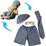 Turkoni Newborn Baby Photography Props Boy Girl Costume Outfits Cute Hat Pants/Halloween Pumpkin Costume (Suit)