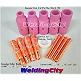 Accessory Kit Cup-Collet-Collet Body-Gasket 040-1/16-3/32-1/8 TIG Welding Torch 17, 18 & 26 TAK5
