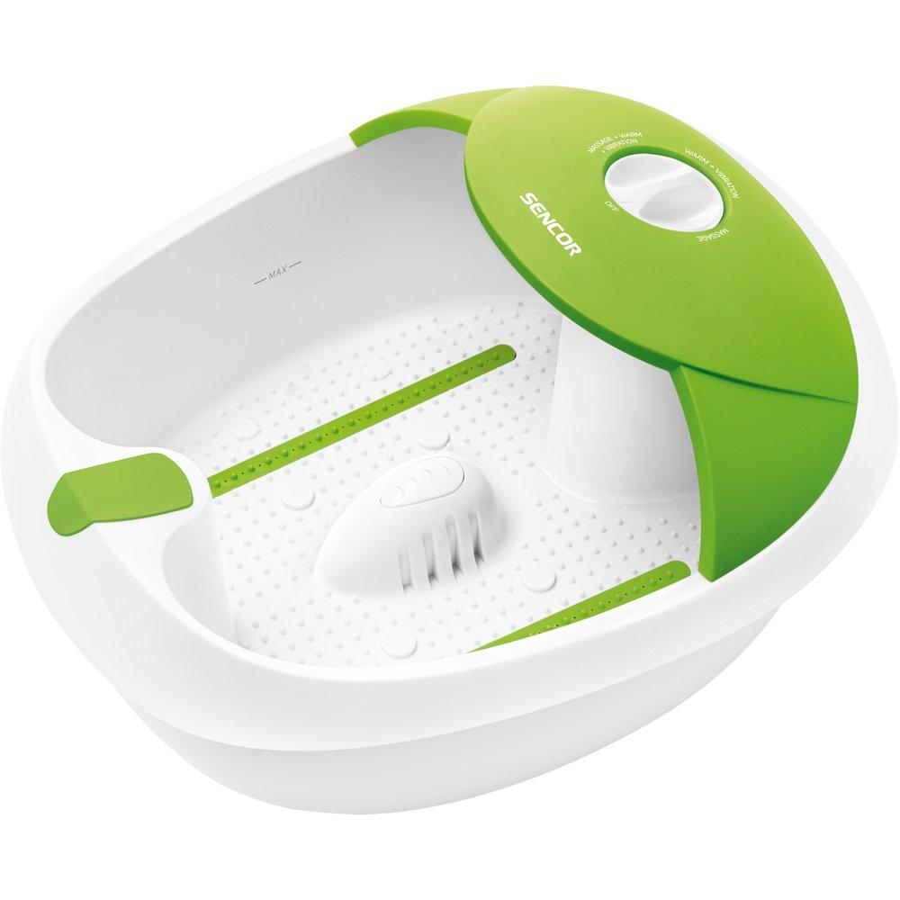 Sencor SFM 3720GR, Vaschetta massaggiante per i piedi, con 482 punti di stimolazione a digitopressione, per un massaggio efficace, Verde 40032611