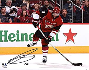 "Anthony Duclair Arizona Coyotes Autographed 8"" x 10"" Red Jersey Shooting Photograph - Fanatics Authentic Certified"