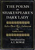 Poems of Shakespeares Dark Lad, Outlet Book Company Staff, 0517537451