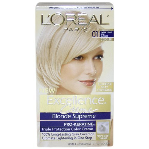 L'Oreal Paris Excellence To-Go 10-Minute Creme Colorant, Extra Light Ash Blonde (Pack of 3) -  KA035312
