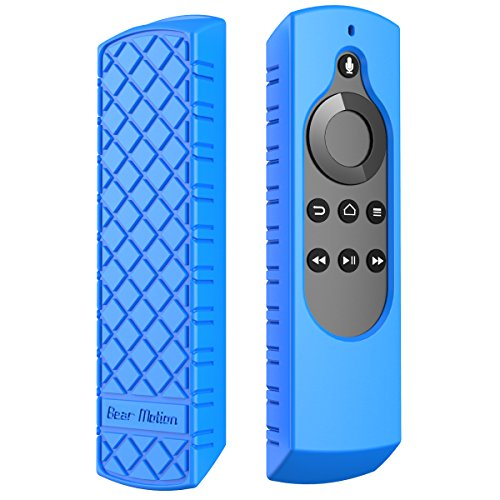Bear Motion Silicone Case for All-New Fire TV 4K / 2nd Gen Fire TV Stick Voice Remote / Amazon Echo / Echo Dot Alexa Voice Remote (All-New Fire TV 4K, Blue)