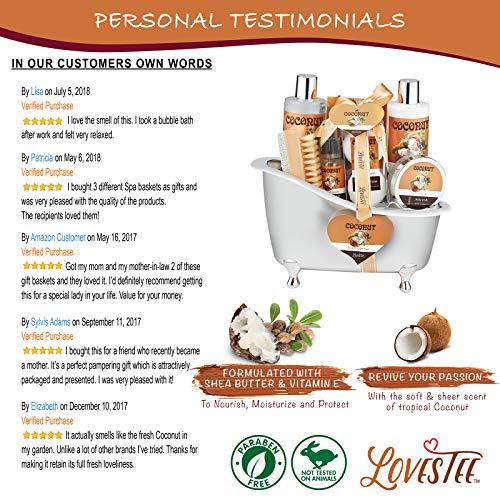 Spa Gift Basket-Bath and Body Gift Set,Coconut For Women-Spa Bath Kit & Bath Gift Basket Birthday Gift Includes Bath… 4