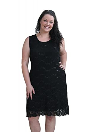 Amazon Girltalkfashions Womens Lace Sequin Flapper Dress Plus