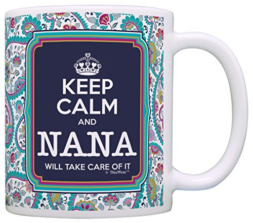 Keep Calm Nana Coffee Paisley product image
