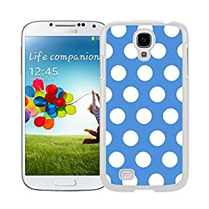 BINGO Best Polka Dot Blue and White Watercolor Samsung Galaxy S4 i9500 Case White Cover