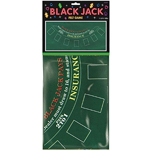 Blackjack Party Table Cover, 6']()