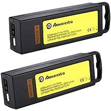 Powerextra 2 Pack 11.1V 6300mAh 10C 3S LiPo Battery Pack for Yuneec Typhoon Q500, Q500+, Q500 4K, Typhoon G Drone - Upgrade
