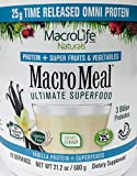 MacroMeal Omni Protein by MacroLife Naturals – 25g Protein – Hydrolyzed Collagen Peptides (90%) – Gluten & Hormone Free – Keto & Paleo Friendly for Sustained Energy - Contains MCT Coconut Oil