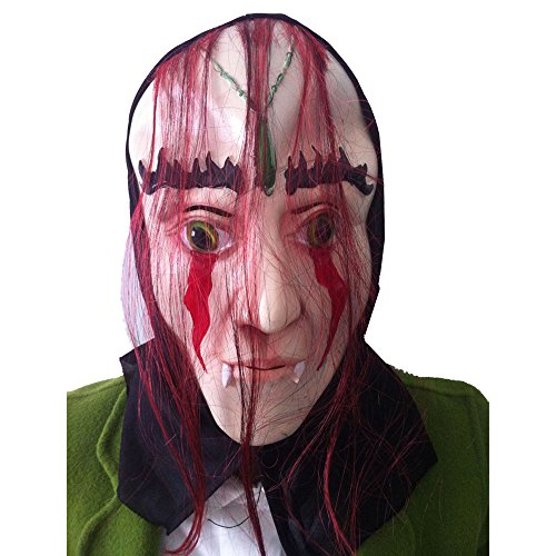 Bloody Face Off Horror Mask for Halloween Props DIY Costume Horrible Latex Mask