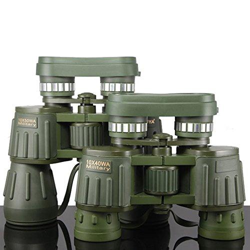 10 x 40 Military Binoculars Large Eyepiece Army Green望遠鏡高電源の狩猟キャンプ B071J36PGD