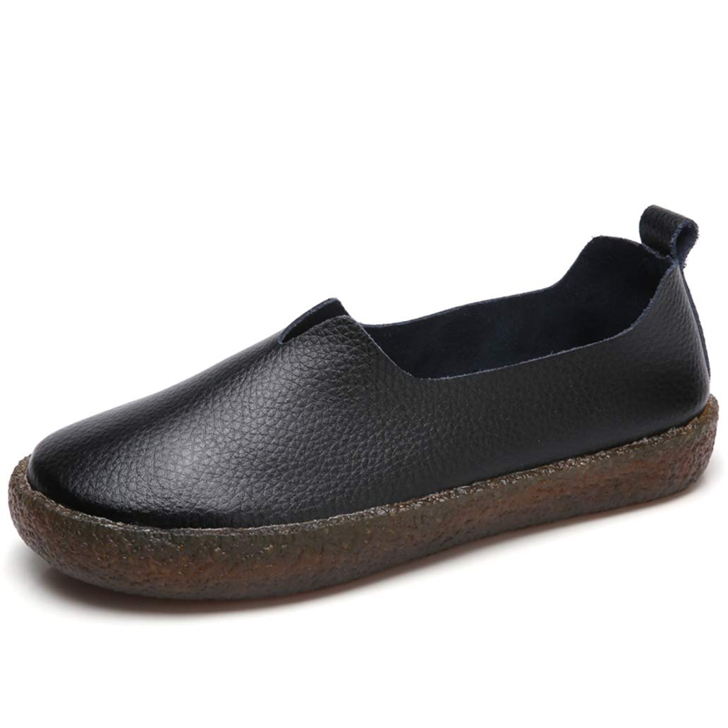 York Zhu Female Fall Women Flats Shoes Round Toe Ladies Casual Comfortable Soft Shoes