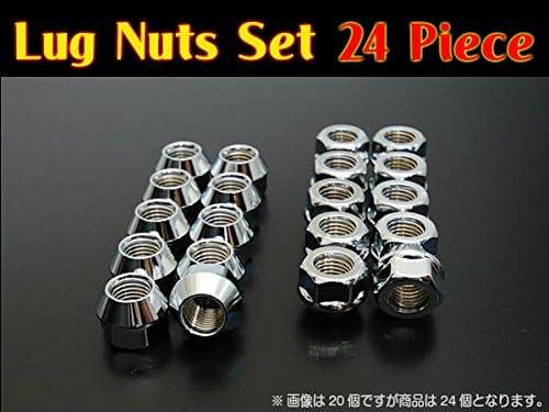 FIC(フィック) ラグナット 【M12×P1.25-19HEX】 貫通タイプ16mm 24個セット ホイールナット