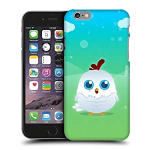 Case Fun Whire Chicken by DevilleART Snap-on Hard Back Case Cover for Apple iPhone 6 (4.7 inch)