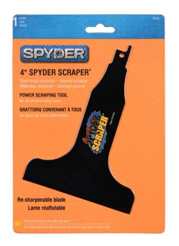 Spyder Scraper 00108 Scraping Tool Attachment for Reciprocating Saws, Black, - Black Elite In Four